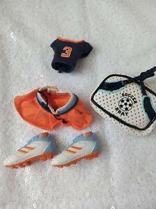 BRATZ doll clothes Yasmin Play Sportz Soccer football shoes bag top skirt 2005