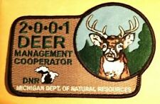 Deer Management Cooperator Patch - 2001 DNR Michigan Dept. of Natural Resources