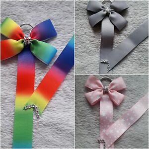 Rainbow Hair Bow/Clip Holder Birthday/Easter/Gift