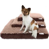 Dog & Cat Pet Bed Bolster Foam Deluxe Bedding Cuddler Fluffy Pillow- Med Beige