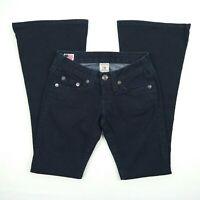 True Religion - Carrie Flare Jean Dark Blue Low Rise Jeans Women's Size 25 USA