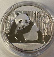 2015 China 10 Yuan 1 Oz .999 Silver Panda Coin Brilliant Uncirculated