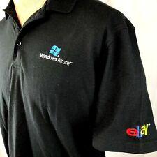 Ebay Windows Azure Microsoft L Polo Shirt Large Mens 2010 Older Logo Embroidered