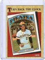 1987 TOPPS BASEBALL INSERT CARD #313 - HOF ROBERTO CLEMENTE - PITTSBURGH PIRATES