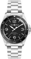 BRV292-BL-ST/SST | NEW Bell & Ross Vintage Black Dial 41mm Steel Men's Watch