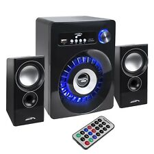 PC Bluetooth Speakers 2.1 Stereo Remote Subwoofer Clear Sound  USB SD FM JACK UK