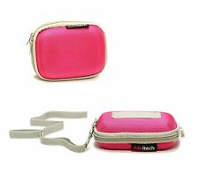 Navitech Pink Compact Camera Case For Sony Cyber Shot WX350 / WX22 CAMERA-AC NEW