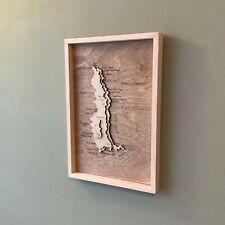 More details for wooden topographic map lundy island bristol channel torridge devon handmade