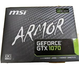 MSI GeForce GTX 1070 ARMOR 8G OC Graphics card