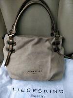 Liebeskind Berlin Womens Handbag Leather Shoulder Bag Satchel Purse Beige