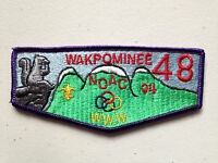 WAKPOMINEE OA LODGE 48 SCOUT SERVICE PATCH FLAP 1994 NOAC DELEGATE THICK STITCH