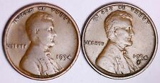 1934 + 1934-D Lincoln Wheat Cent Penny Lowest Prices On The Bay! Free Shipping!