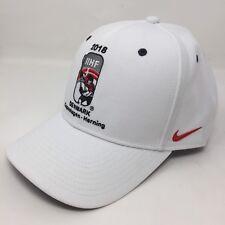 af42697f440c2 Nike Classic99 IIHF Denmark 2018 White Baseball Hat Hockey Adjustable  DriFit A5B