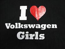 """Rare """"I HEART VOLKSWAGEN GIRLS"""" (LOVE VW ) T-SHIRT Fans Humor Novelty SZ L RARE"""