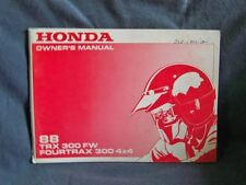 Honda TRX 300 FW Original Version Owners Manual 88 Fourtrax 300 4X4 Genuine
