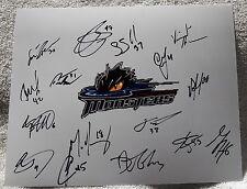 12/13 Lake Erie Monsters Team Auto 8x10 Photo w/ Joey Hishon Colorado Avalanche