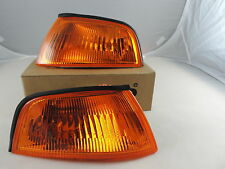 Mitsubishi Lancer Mirage Crystal Amber Corner Lights Lamps 98~00 E-MARK EVO L99