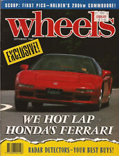 WHEELS Sep 89 Honda NSX 911 Speedster Golf GTI