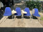 70s EAMES Shell School Chair Herman Miller Blue Fabric One Chair