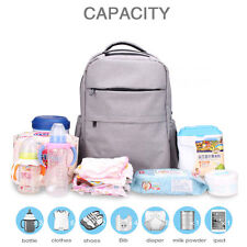 Multifunctional Baby Nappy Backpack Diaper Changing Bag Mummy Backpack Bag Grey