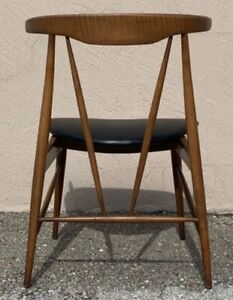 Rare Sculptural Horn Wood Dining Chair Danish Mid Century Juhl Prototype MCM