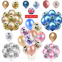 Rose Gold Age Birthday Balloons 16th 18th 21st 30th 40th Birthday Decorations UK