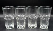 """Set of 4 Tall Clear Glass Tumblers - 6.25"""" - Marked ARC"""