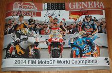 Marc Marquez, Alex Marquez, Esteve Rabat Signed 24X16 2014 World Champion Photo
