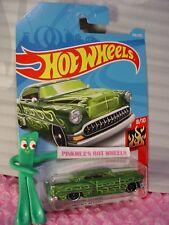 CUSTOM '53 CHEVY #350✰metallic green ✰HW FLAMES✰2018 i Hot Wheels WW case Q
