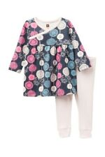 Nwt Tea Collection Puff Dress Outfit Leggings Blue Pink Nordstrom New $35.50