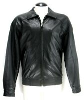 Wilsons Leather - Leather Jacket - Full Zip - Black Bomber - Men's Size M