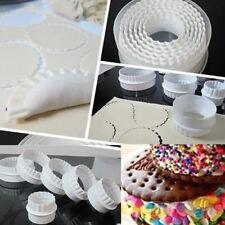 6 stk. Rund Kuchen Torten Cutter Kunststoff Ausstecherform Fondant Ausstecher
