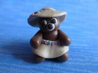 "ooak miniature dollhouse artisan teddy bear sculpture 1:12  - 1"" signed"