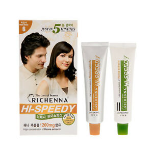 RICHENNA HI SPEEDY Hair Color Cream 1Set  D.I.Y.Special Hair Coloring Cover Gray