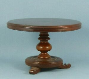 Vintage dolls house round table.