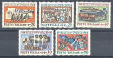 Italy 1968 Sc# 990-94 Trench war Soldiers Air force 50 years of victory WWI MNH