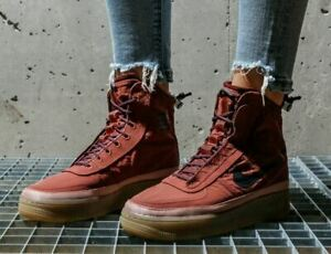 Nike WMNS Air Force 1 Shell Shoe Boots BQ6096 200 Size UK 7.5
