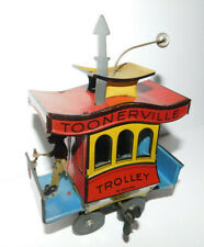 NEAT VINTAGE 1922 TIN TOY WIND-UP FONTAINE FOX TOONERVILLE TROLLEY GERMANY