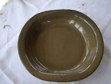 Jugtown Ware/Seagrove Pottery Pl 1998 Medium Oval Bowl Green Brown