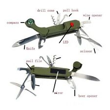13 in1 Multifunction Swiss Style Pocket Army Knife Camping Outdoor Survival Tool