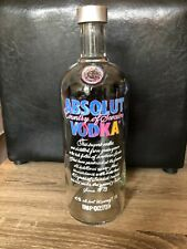 ABSOLUT VODKA ANDY WARHOL 1L LIMITED EDITION 2014 BOTTLE  EMPTY