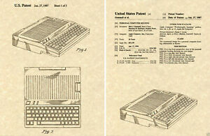 US PATENT for the APPLE IIC COMPUTER Art Print READY TO FRAME Jobs Gemmell 2C