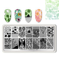 BORN PRETTY Rectangle Nail Stamping Plate Tropical Punch  DIY Decoration