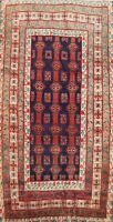 Tribal Semi-Antique Geometric Balouch Oriental Area Rug Hand-knotted Wool 4x7 ft