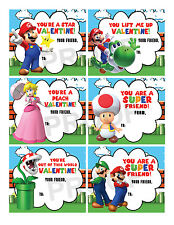 Super Mario Brothers Valentines for Classroom School Valentines Day Cards