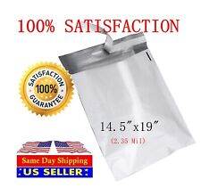100 14.5X19 White Poly Mailer Self Sealing Shipping Envelopes Bags  2.35Mil PM#7