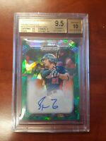 Spencer Torkelson 2019 Panini Prizm Draft Green Ice Auto SN#14/18 BGS 9.5 Gem MT