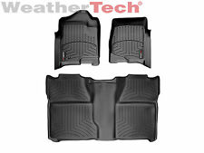 WeatherTech Car Floor Mat FloorLiner for Silverado/Sierra - 1st & 2nd Row -Black