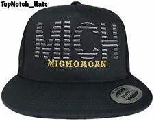 Michoacan MICH Gray On Gray With Black Mesh Trucker Hat Brand New Ships Now !!!