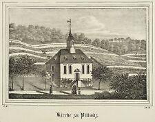 PILLNITZ (DRESDEN) - Weinbergkirche - Lithografie 1837